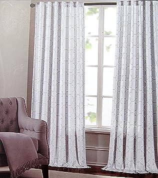 Max Studio Set Of 2 Window Curtains Panels Drapes Moroccan Tiles Lattice  52 By
