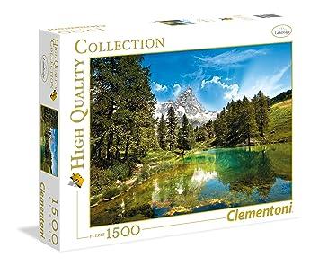 Clementoni - Puzzle 1500 Piezas el Lago Azul (31680): Amazon.es: Juguetes y juegos