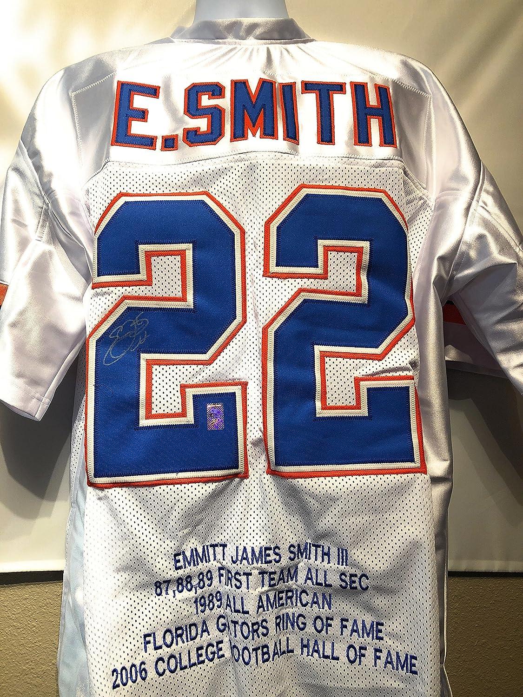 finest selection 600f7 34130 Emmitt Smith Florida Gators Signed Autograph White Custom ...