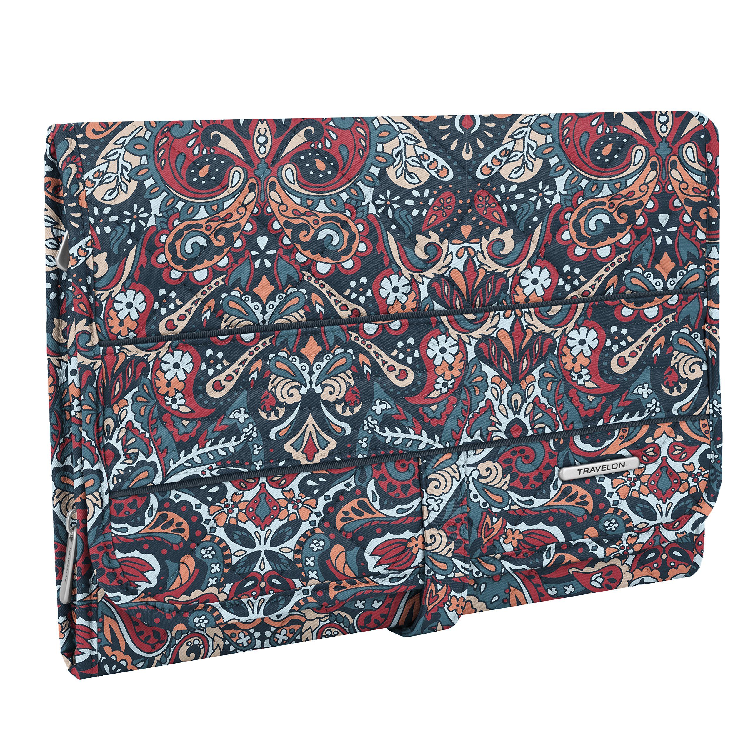 Travelon Women's Boho Trifold Hanging Toiletry Kit, Summer Paisley