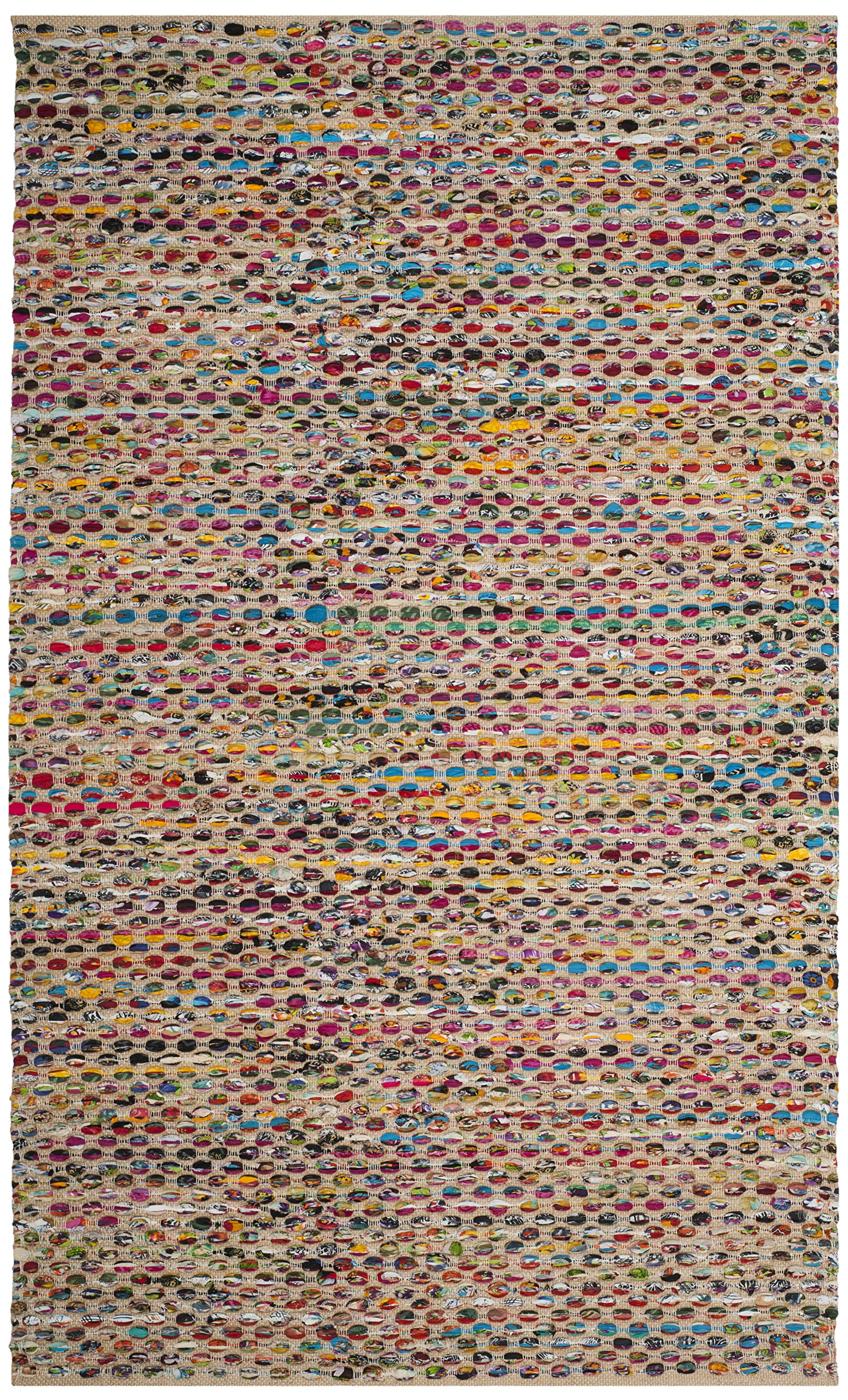 Safavieh Cape Cod Collection CAP302A Handmade Natural and Multicolored Jute Area Rug (5' x 8') by Safavieh