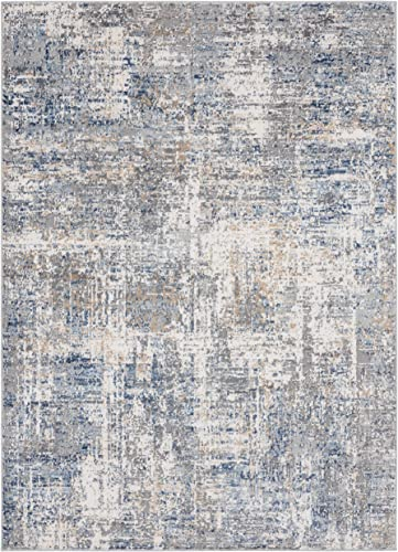 United Weavers Austin Elegance Blue Indoor Accent Rug 5 ft. 3 in. x 7 ft. 2 in., Blue Modern Rug for Interiors. Rugs Carpets