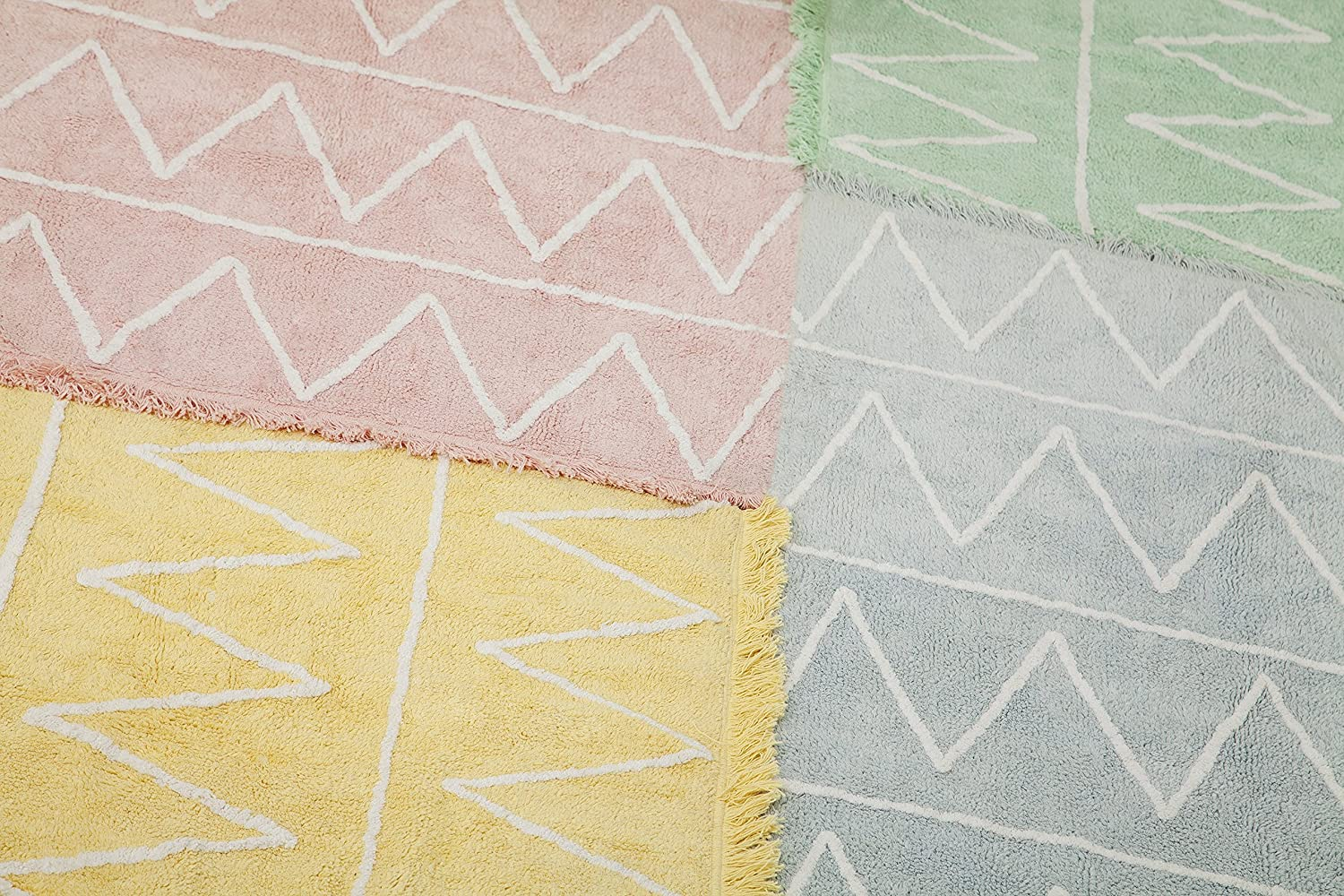 Lorena Canals Hippy Soft Washable Rug Pink