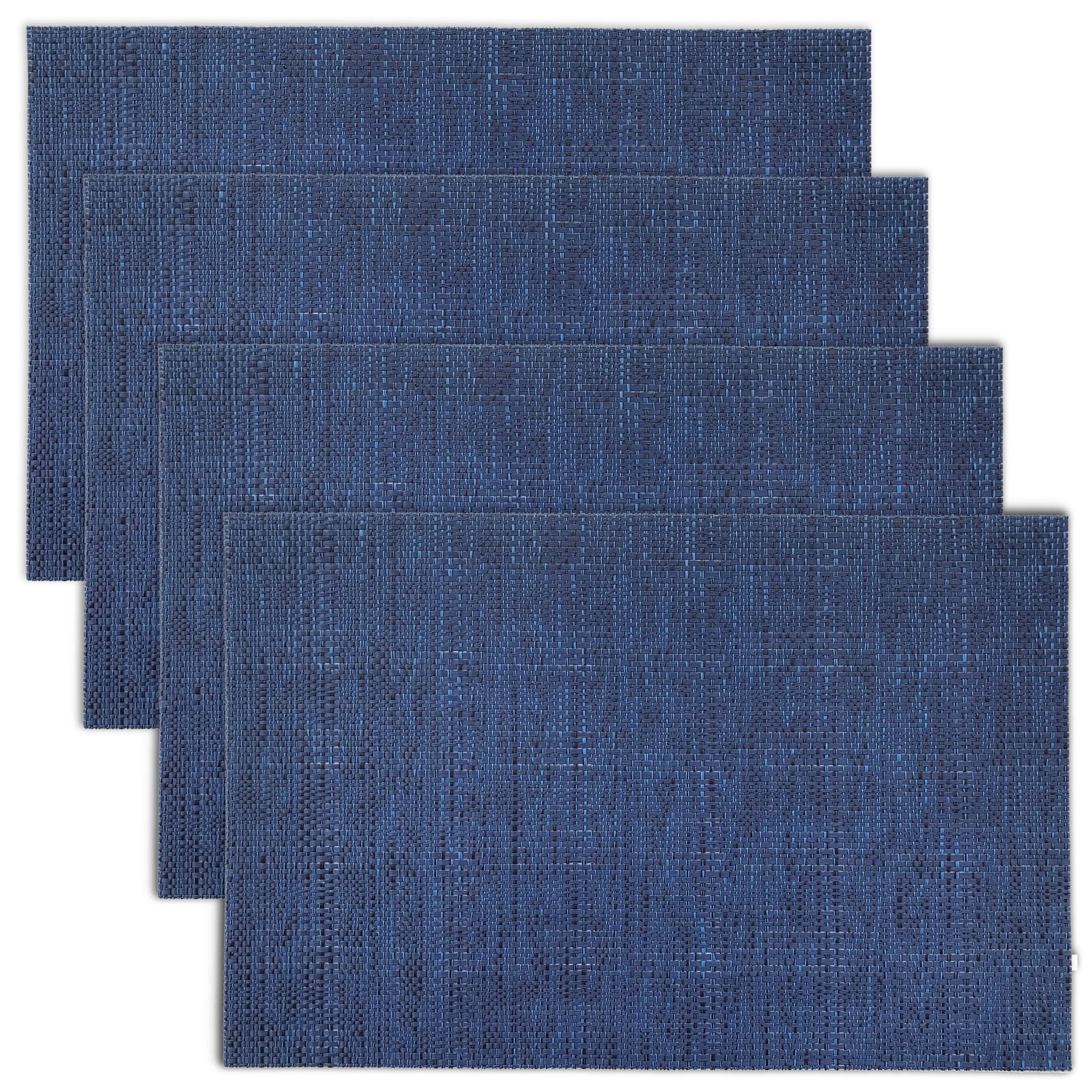 Texture Design Woven PVC Placemat (Navy), Set of 4