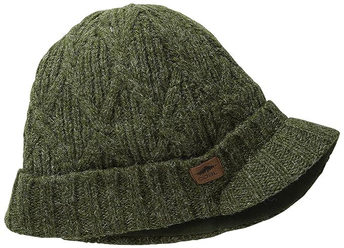 c6b96b4aa02 Amazon.com  Coal Men s The The Yukon Brim Chunky Knit Warm Beanie Hat Dark  Red One Size  Clothing