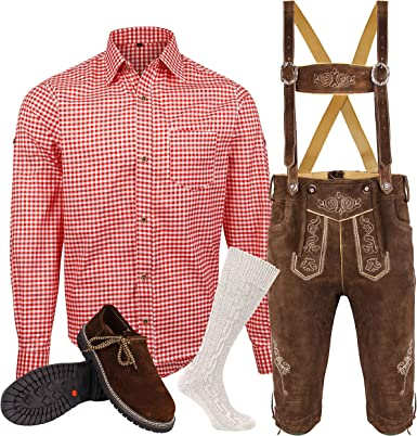 Herren Trachten Lederhose Inkl. Hosen Träger Größe 46 62 Trachten Set 5 Teilig Bayerische Trachtenlederhose,Hemd,Schuhe,Socken Neu
