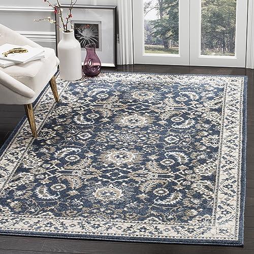 Safavieh Carolina Collection CRL477D Traditional Dark Blue Area Rug 8 x 10
