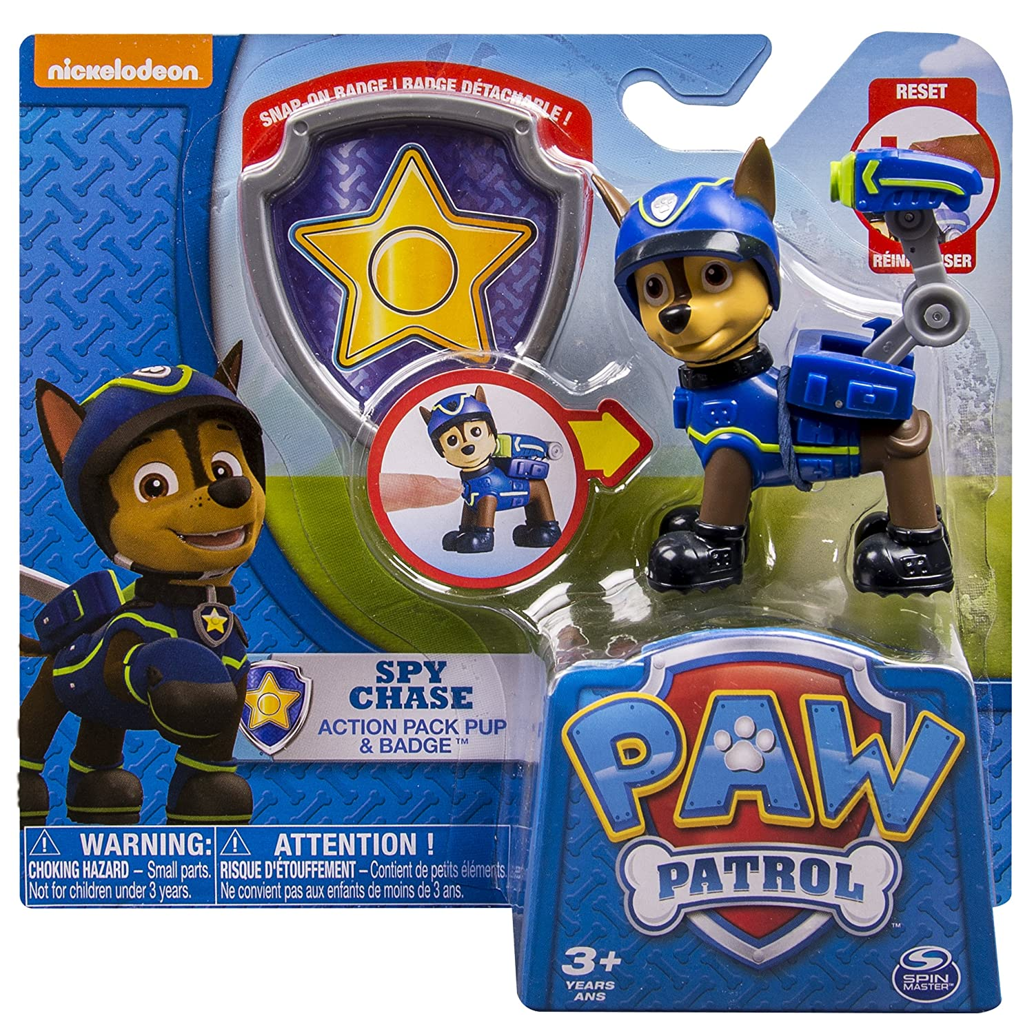Amazon Paw Patrol Action Pack Pup & Badge Spy Chase Toy Toys