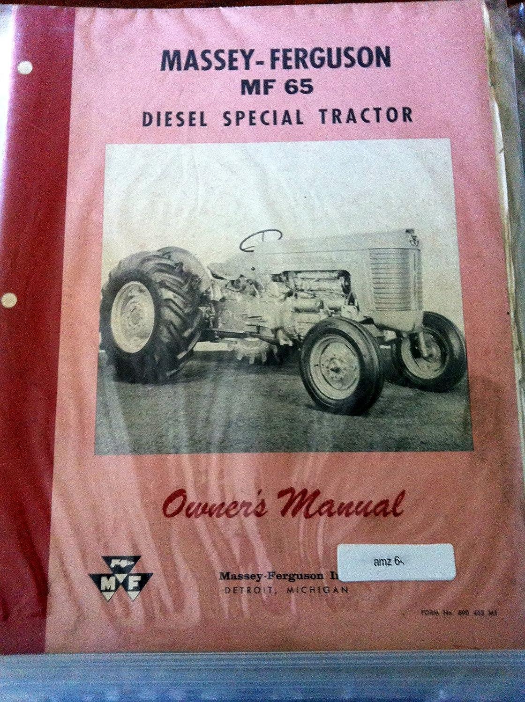 Amazon.com : Massey Ferguson 65 Special Tractor Operators Manual :  Everything Else