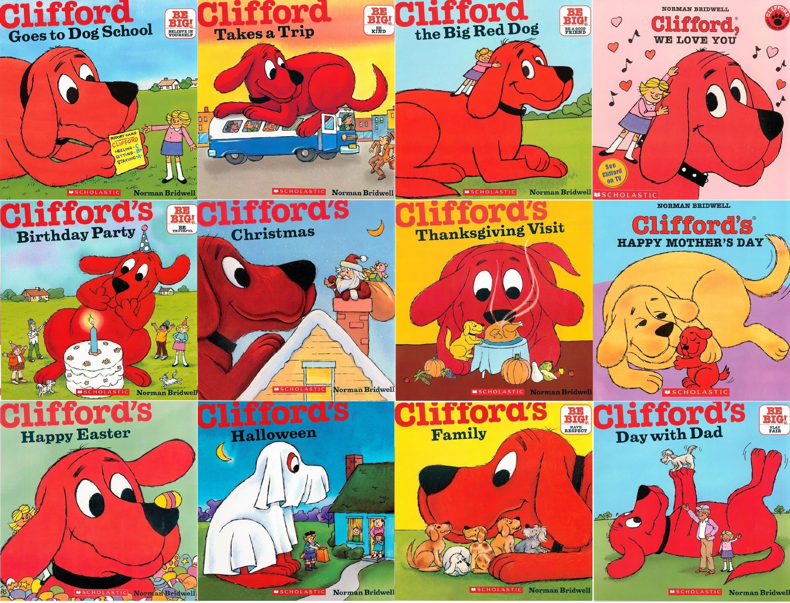 Download Clifford® All Year Pack: Goes to Dog School, Takes a Trip, Clifford the Big Red Dog, Clifford, We Love You, Birthday Party, Clifford's Christmas, Day with Dad, Clifford's Family, Halloween, Happy Easter, Happy Mother's Day, Thanksgiving Visit (Clifford) PDF