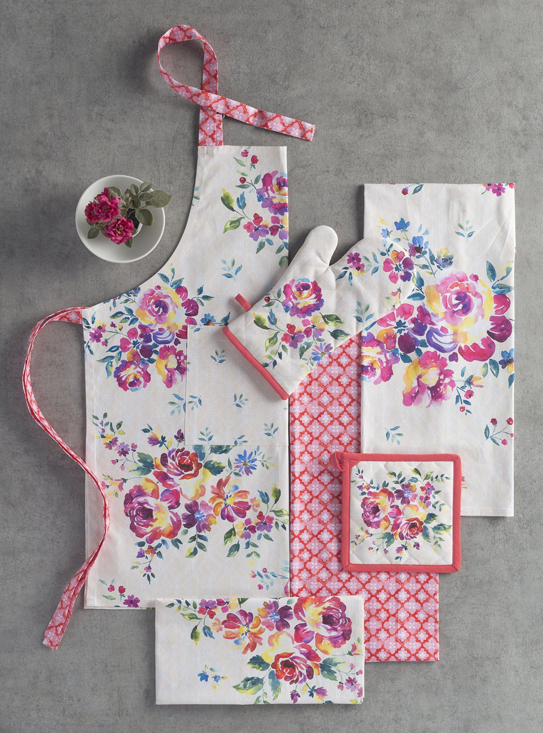 Maison d' Hermine Rose Garden 100% Cotton Apron with an adjustable neck & Visible center pocket 27.50 Inch by 31.50 Inch by Maison d' Hermine (Image #6)