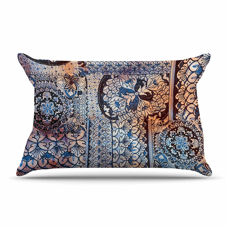 Kess InHouse Victoria Krupp Italian Tiles Blue Multicolor Digital 30 x 20 Pillow Sham
