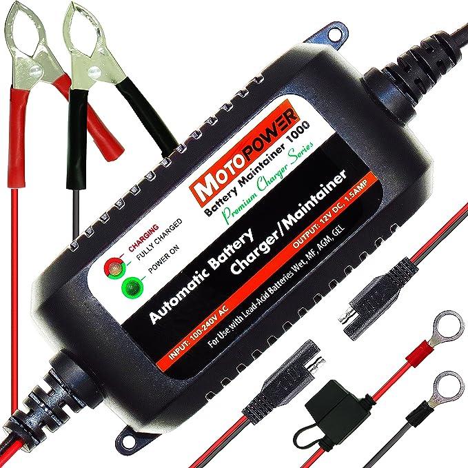 8 opinioni per MOTOPOWER MP00206A 12V 1.5Amp Caricabatterie / Mantenitore completamente