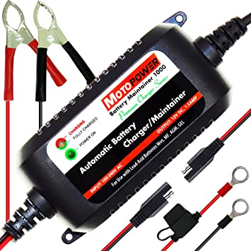 amazon com motopower mp00206a 12v 1 5amp fully automatic battery Trail Tech Voyager GPS motopower mp00206a 12v 1 5amp fully automatic battery charger maintainer for cars, motorcycles,