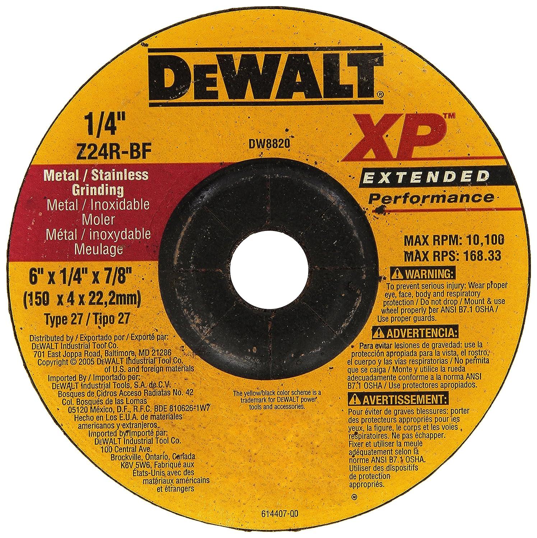 DEWALT DW8820 6-Inch by 1//4-Inch by 7//8-Inch XP Grinding Wheel