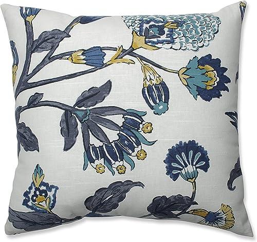 Pillow Perfect Auretta Peacock Throw Pillow, 18-inch, Grey