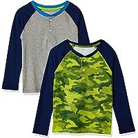 Amazon Essentials Long-Sleeve Henley T-Shirts Niños