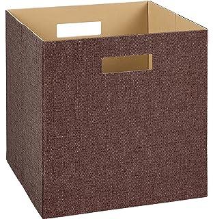 Bon ClosetMaid 7115 Decorative Fabric Storage Bin, Brown