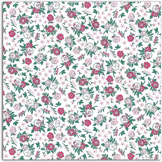Dailylike lkc45 – Retal de Tela algodón Blanco/Rosa 110 x 90 x 0.1 ...