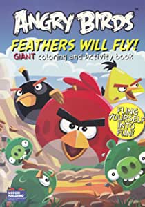 """Angry Birds Coloring Book """"Feathers Will Fly!"""" with 96 Pages"""