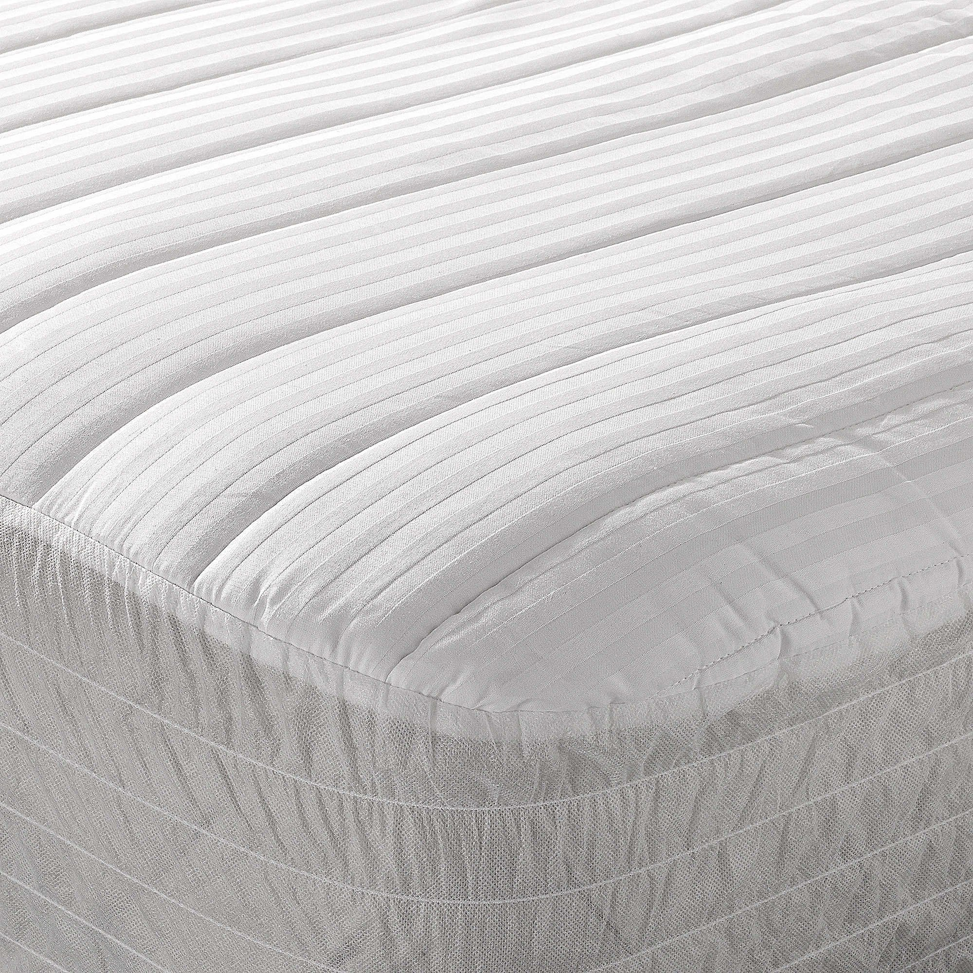 Wamsutta Dobby Stripe Twin XL Mattress Pad in White