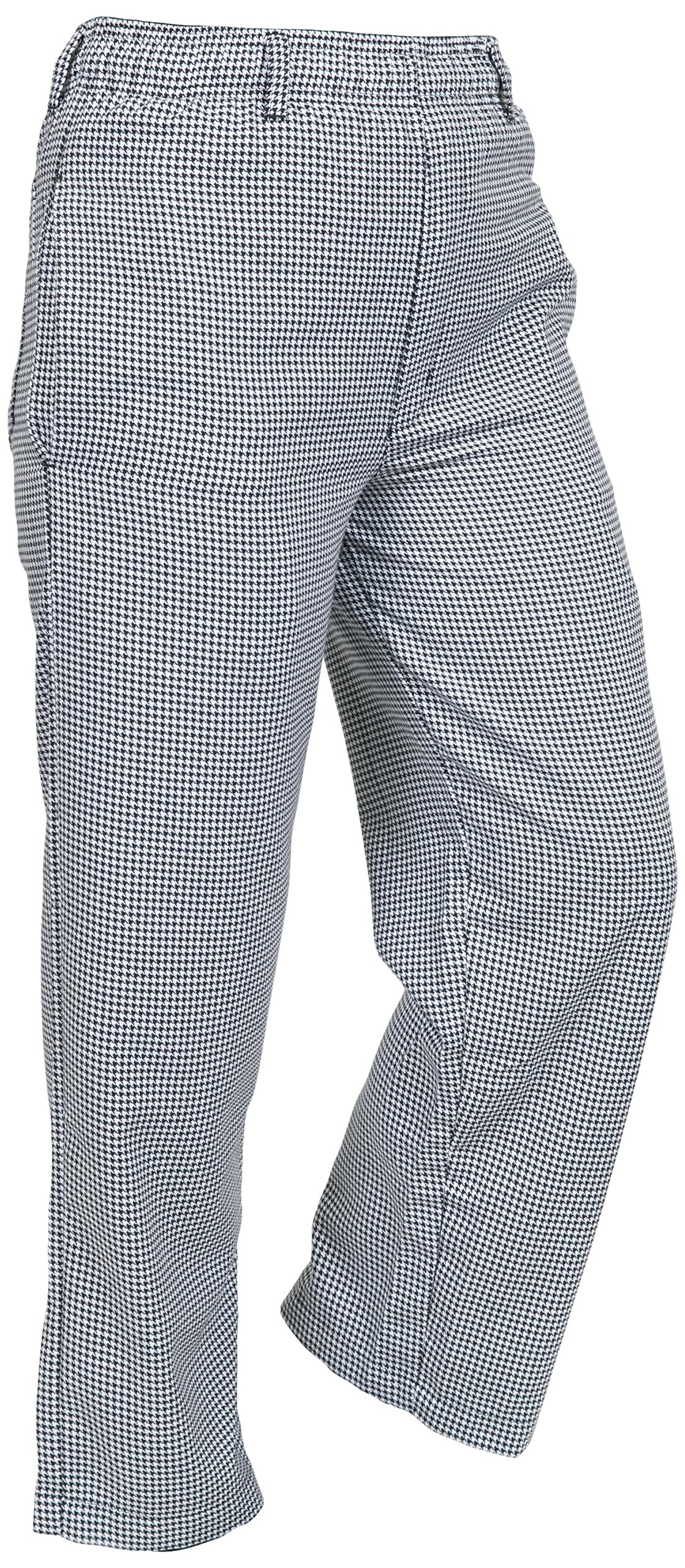 Mercer Culinary M60030HT6X Millennia Men's Cook's Pants, 6X-Large, Black and White Hounds Tooth by Mercer Culinary