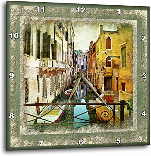 3dRose DPP_53136_1 Overlooking Canal in Venice Wall Clock, 10 by 10-Inch