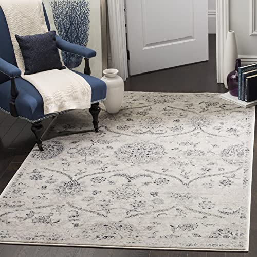 Safavieh Carnegie Collection CNG624C Vintage Cream and Light Grey Distressed Area Rug 6 7 x 9 2