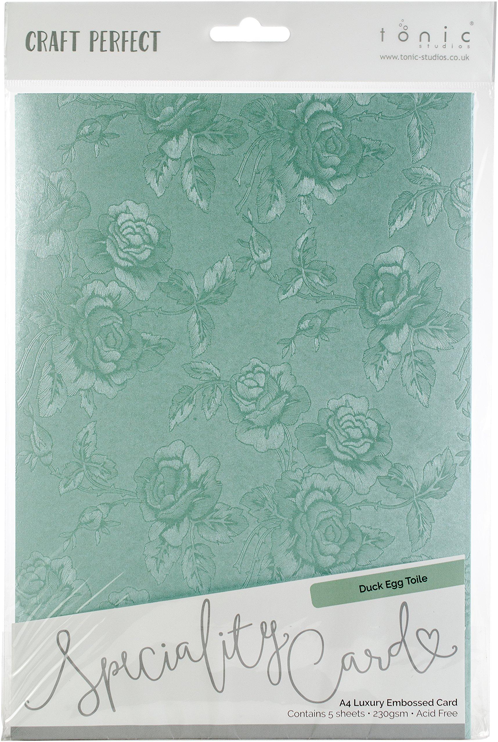 Tonic Studios 9836E Craft Perfect Luxury Embossed A4 Cardstock, Multicolor