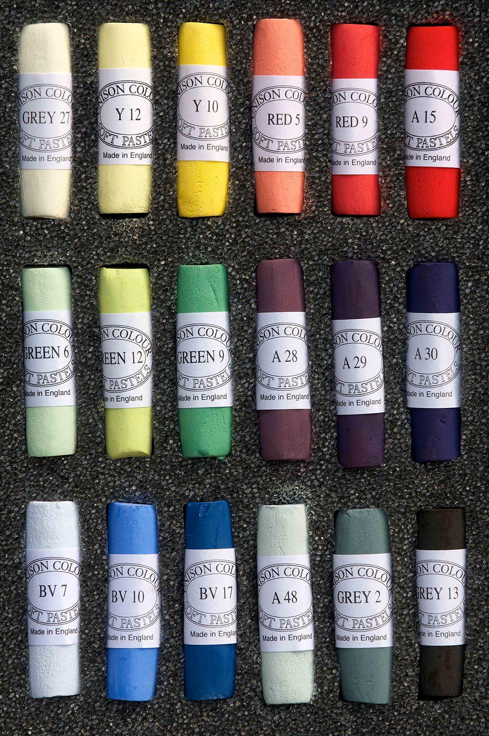 Unison Colour Soft Pastels Hand Made Starter 18 Set by Unison Colour