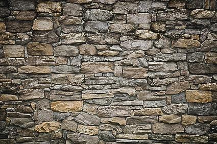Fotomurales grey stonewal decorazioni pareti rivestimento per