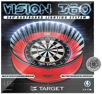 target vision 360 led dartboard light amazon co uk sports outdoors