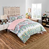 Boho Boutique Rozella Comforter Set, Twin Extra Long, Coral