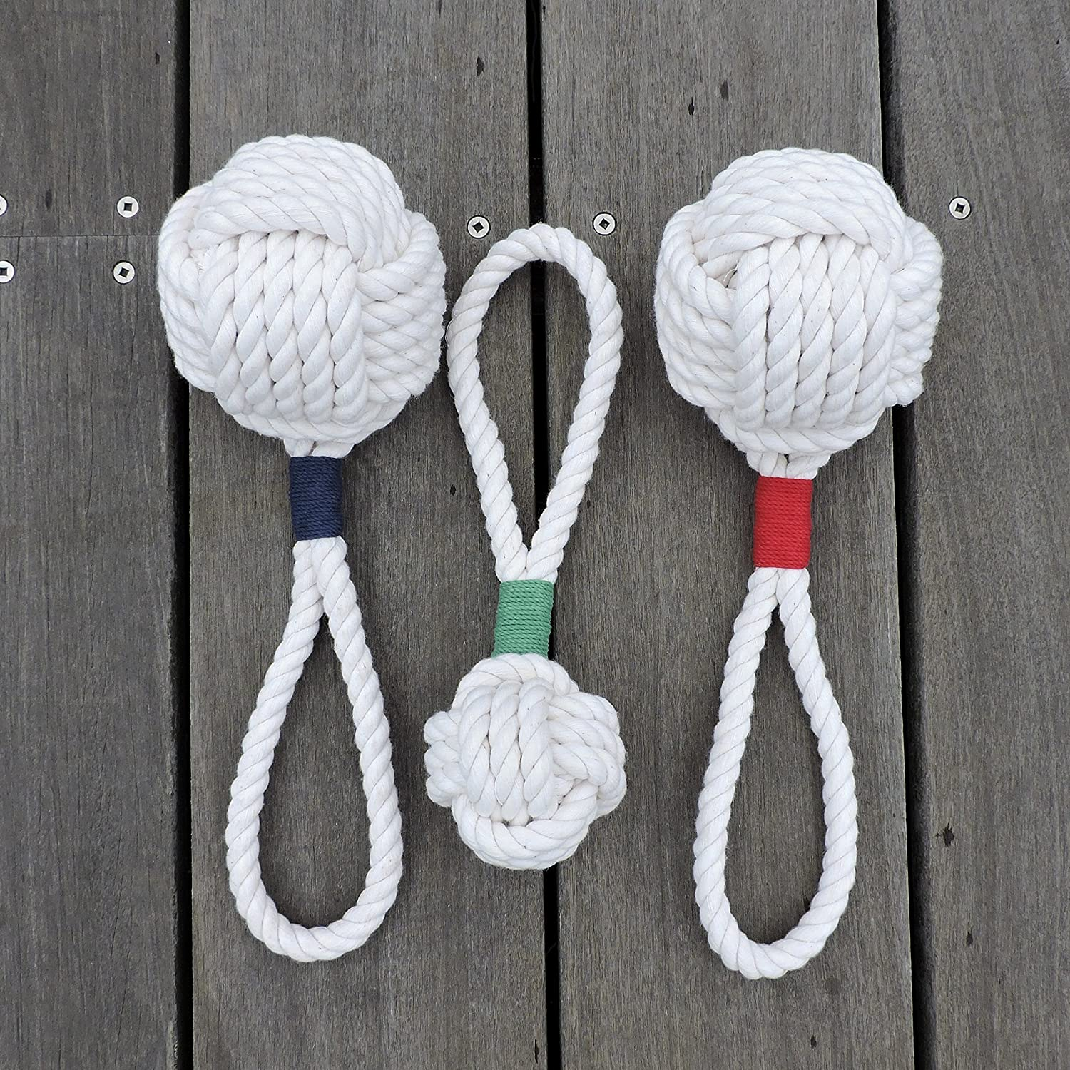 Nautical Knot Ball Cotton Rope Dog Toy