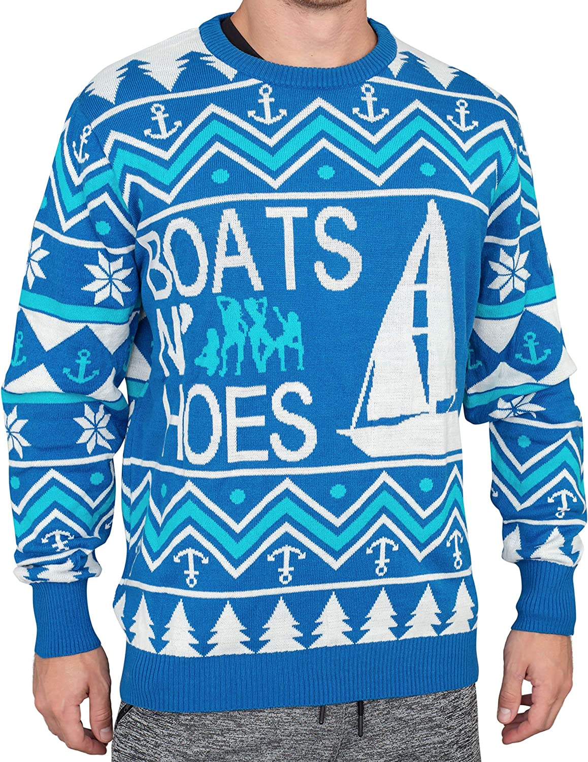 Step Brothers Boats N Hoes Ugly Christmas Sweater