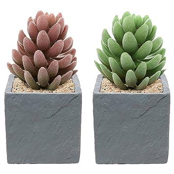 Amazoncom Set of 2 Contemporary Square Natural Stone Design