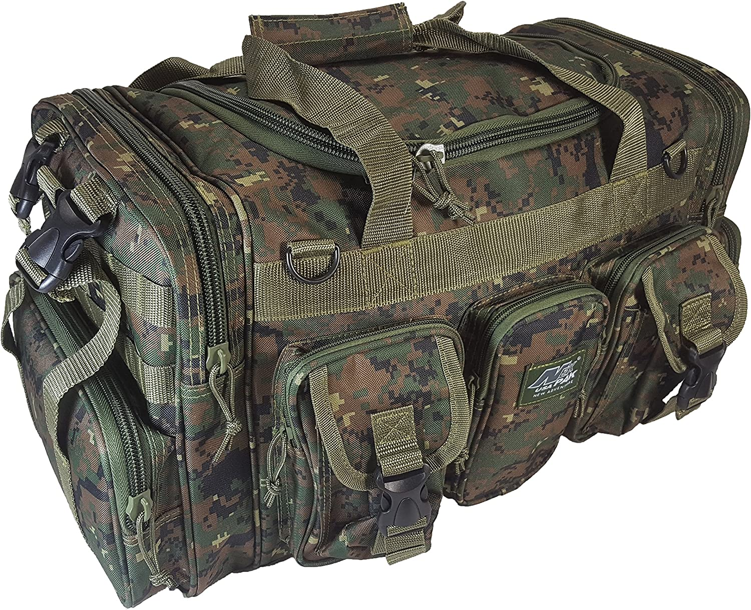 NPUSA Mens Large 22 Duffel Duffle Military Molle Tactical Gear Shoulder Strap Travel Bag