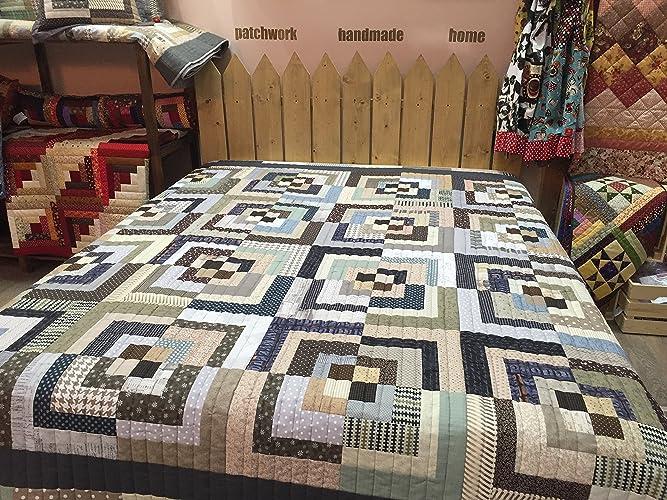 Amazon.com: Handmade,Modern Patchwork Quilt,Loft,Double,King or ... : double patchwork quilt - Adamdwight.com
