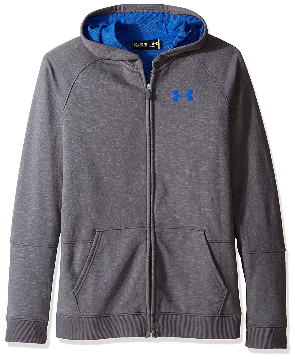 Under Armour Boys '選択FZ Hoody B01FWRYUGA Graphite Medium Heat (040) Youth X-Small