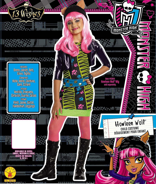 Monster High Howleen Costume, Medium