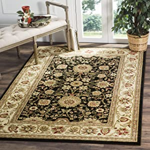 Safavieh Lyndhurst Collection LNH212A Traditional Oriental Black and Ivory Area Rug (6' x 9')