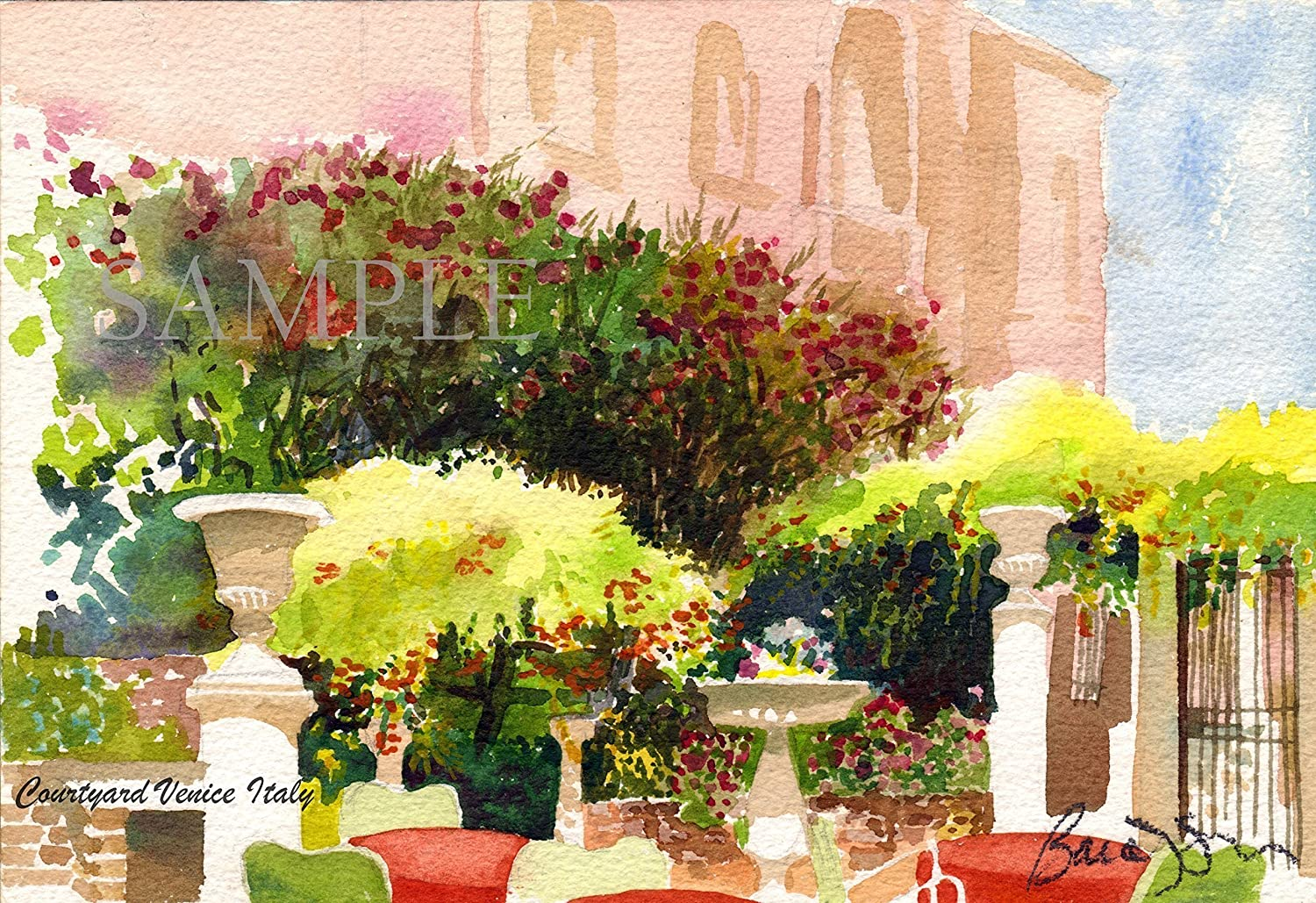 Amazon Com Watercolor Painting Venice Italy Giclee Print Of
