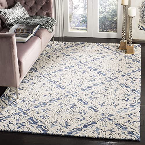 Safavieh Blossom Collection BLM103M Handmade Wool Area Rug