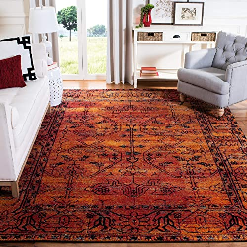 Safavieh Vintage Hamadan Collection VTH216C Orange Area Rug 6'7″ x 9'