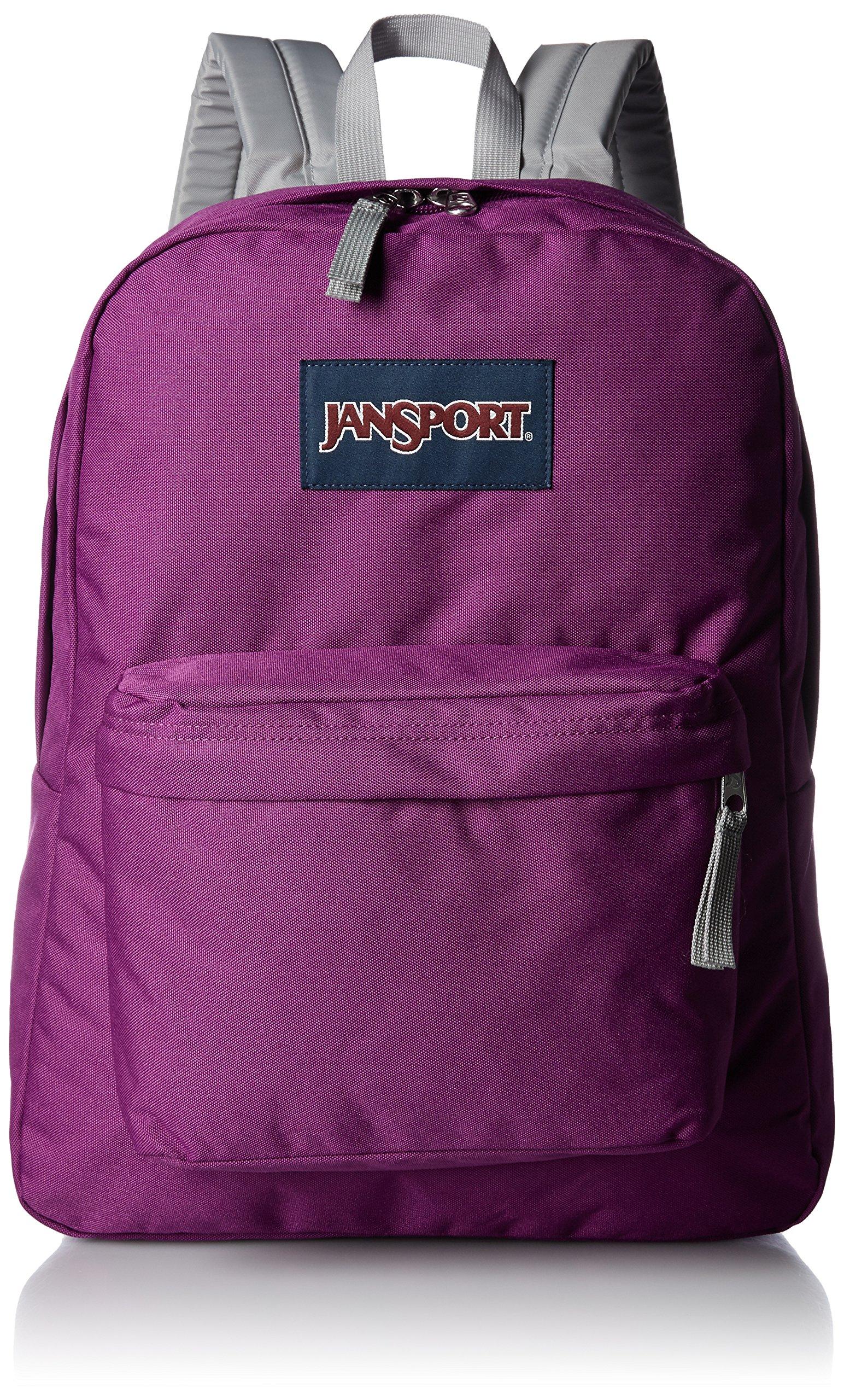 JanSport Unisex SuperBreak Purple Plum Backpack