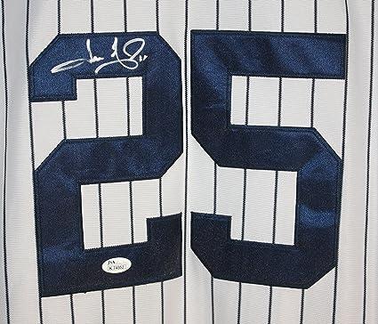 Jason Giambi New York Yankees Signed Autographed White Pinstripe  25 ... ac2ec2b7e61