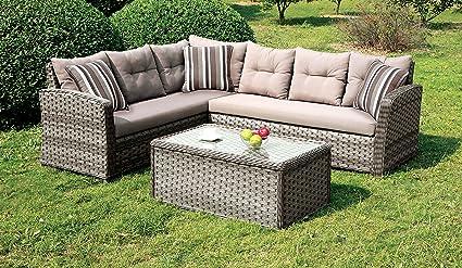 Tremendous Amazon Com Furniture Of America Dresden Patio Sectional Machost Co Dining Chair Design Ideas Machostcouk