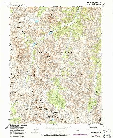 Amazon Com Maroon Bells Co Topo Map 1 24000 Scale 7 5 X