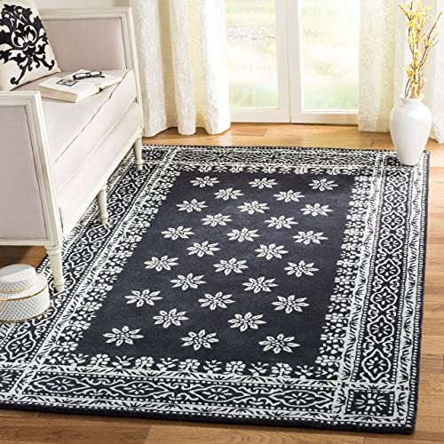 Martha Stewart Safavieh Collection MSR4538B Handmade Premium Wool Weathervane Area Rug 8 Diameter