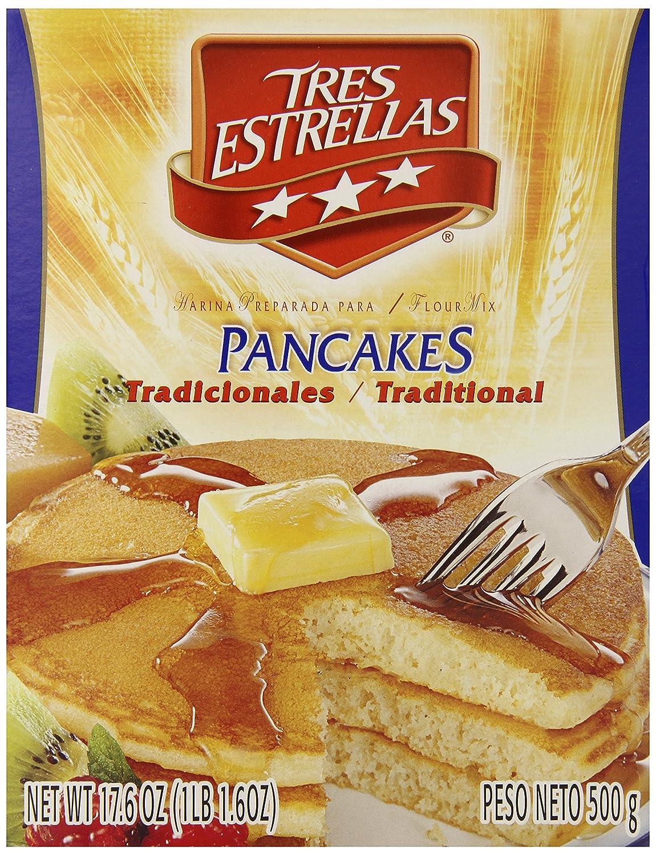 Amazon.com : Tres Estrellas Traditional Hot Cakes Mix, 17.6 Ounce ...
